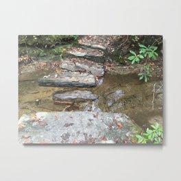 Large stepping stones across the creek Metal Print