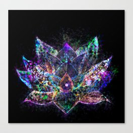 Lotus Flower Glow Canvas Print