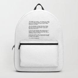 F Scott Fitzgerald quote Backpack