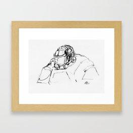 Warbot Sketch #034 Framed Art Print