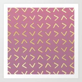 arrow pattern Art Print