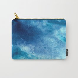 Tie Dye Sea Waves Blue Carry-All Pouch