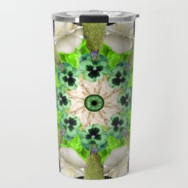 green cows mandala Travel Mug