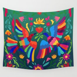 embroidery mexican floral  Wall Tapestry