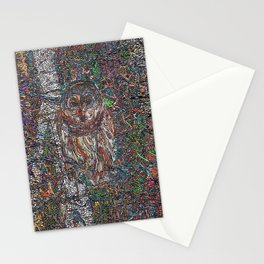 Owl in a Birch Grove Stationery Cards