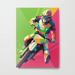 Motocross Top-notch WPAP #2 Metal Print