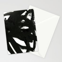 black on white 1 Stationery Cards
