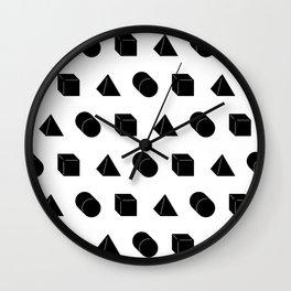 Shapes Pattern Wall Clock