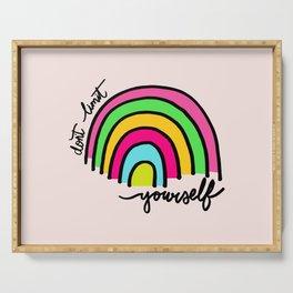 Happy Rainbow Quote Serving Tray
