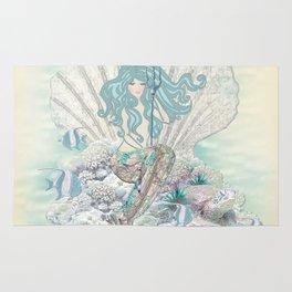 Anais Nin Mermaid [vintage inspired] Art Print Rug