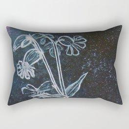 Bladder Campion in Space Rectangular Pillow