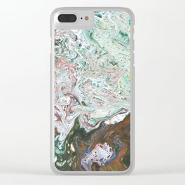 MELTED MOSS Clear iPhone Case
