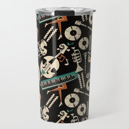 Jazz Rhythm (negative) Travel Mug