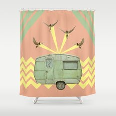 The best way to travel Shower Curtain