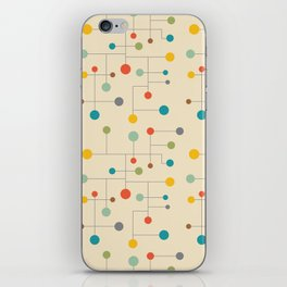 Mid-Century Dots Pattern iPhone Skin