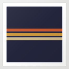 Vintage Retro Stripes Art Print