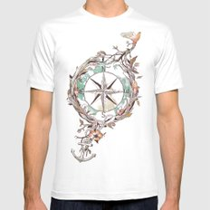 Bon Voyage MEDIUM White Mens Fitted Tee
