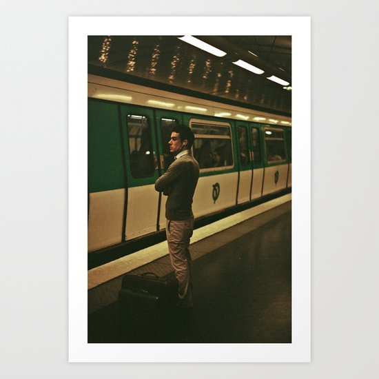 PARIS VII - YOUNG MAN Art Print
