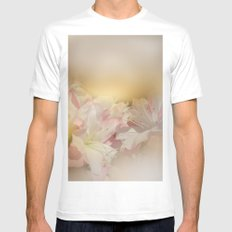 Window Curtains - Smell the Flowers White MEDIUM Mens Fitted Tee