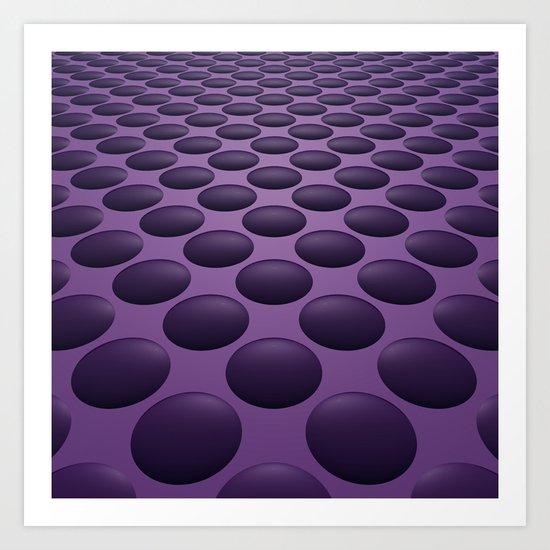 Purple Bumps Art Print
