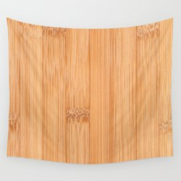 Cool elegant light brown bamboo wood print Wall Tapestry