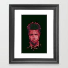 Fight club - tyler Framed Art Print