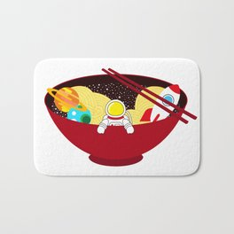Space Odyssey Ramen | Astronaut Ramen | Bowl of Space Ramen | Galaxy in a Bowl | pulps of wood Bath Mat