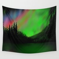 northern lights Wall Tapestries featuring Northern Lights by Turul