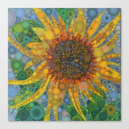 Percolated Sunflower Canvas Print