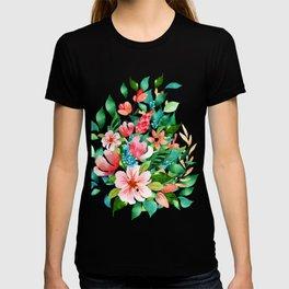 Colorful island floral brunch bouquet T-shirt