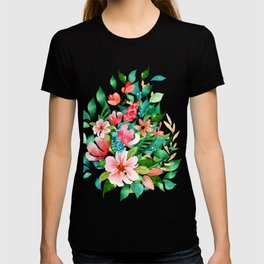 Colorful island floral brunch bouquet T-shirt