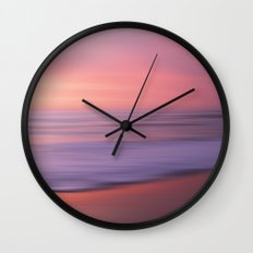 Soft Blushing Sky Wall Clock