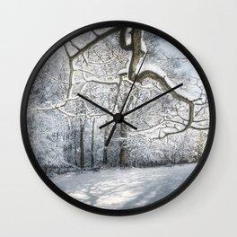 Sycamore Snow Wall Clock