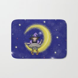 Magic night - sitting on the moon witch! Bath Mat