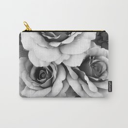 Black and White Roses Wall Decor- Surreal Black White Roses Flower Home Decor Carry-All Pouch
