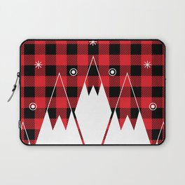 Red Buffalo Plaid Mountains Laptop Sleeve