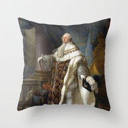 Louis XVI Portrait - By Antoine Callet Throw Pillow