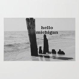 Hello Michigan Rug