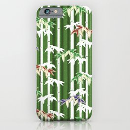 Vintage oriental Bamboo pattern iPhone Case