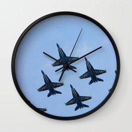 Blue Angels in Seattle Wall Clock
