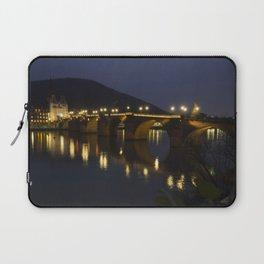Heidelberg Bridge by night Laptop Sleeve
