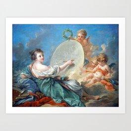 François Boucher Allegory of Painting Art Print