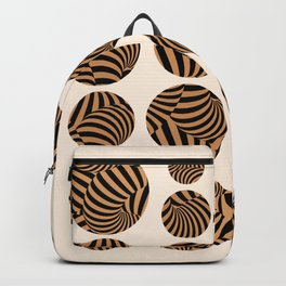 Abstraction_CIRCLES_DOT_ILLUSION_POP_ART_001CA Backpack