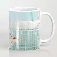 Finch against Turquoise Wall, Jerusalem Mug