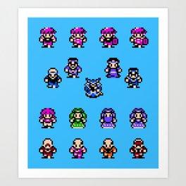 God Slayer Famicom Art Print
