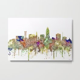 Lincoln, Nebraska Skyline - Faded Glory Metal Print