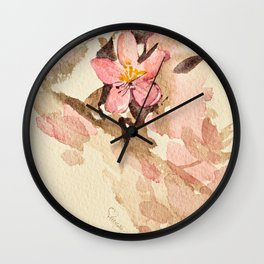 The yearly crabapple painting - 2016 Wall Clock