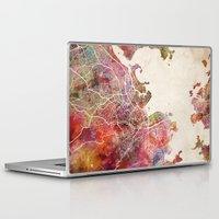 rio de janeiro Laptop & iPad Skins featuring Rio de Janeiro by MapMapMaps.Watercolors