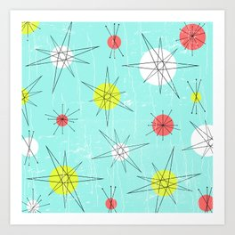 Atomic Era Art 'Planets' Art Print