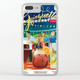 Guinguettes Clear iPhone Case